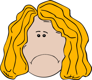 299x258 Sad Faced Clip Art