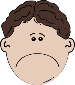 264x297 Boy Face Sad Clip Art