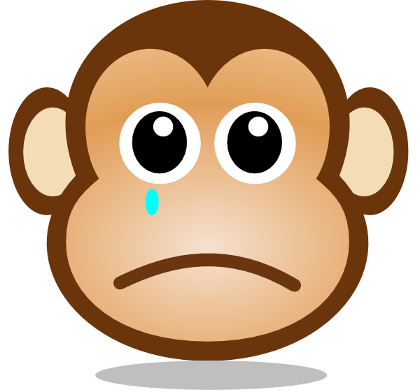 600x561 Sad Monkey Face Clip Art