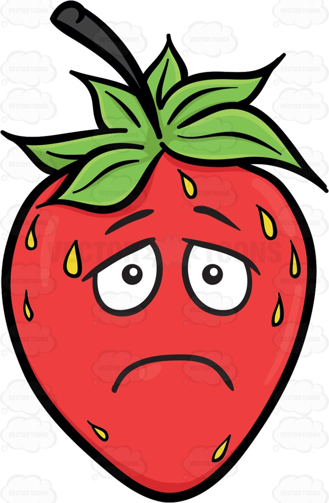 669x1024 Strawberry Clipart Sad