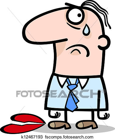 386x470 Clipart Of Sad Man On Valentines Day Cartoon K12467193
