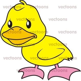 317x320 Sad Duck Illustration