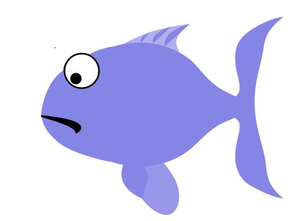 600x434 Blue Sad Fish Clip Art