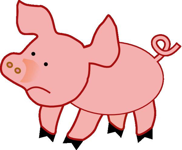 600x492 Small Pig Unhappy Clip Art