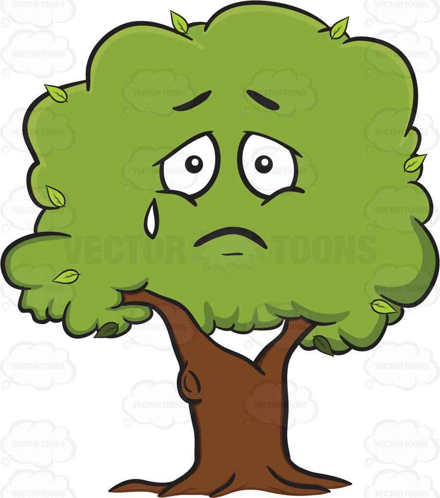 904x1024 Sad Plant Clipart Sad Looking Healthy Leafy Tree Emoji Vector Clip