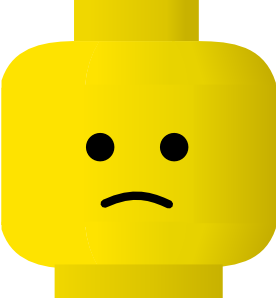 276x298 Lego Smiley Sad Clip Art Free Vector 4vector