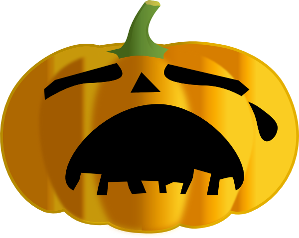 600x479 Sad Clipart Pumpkin