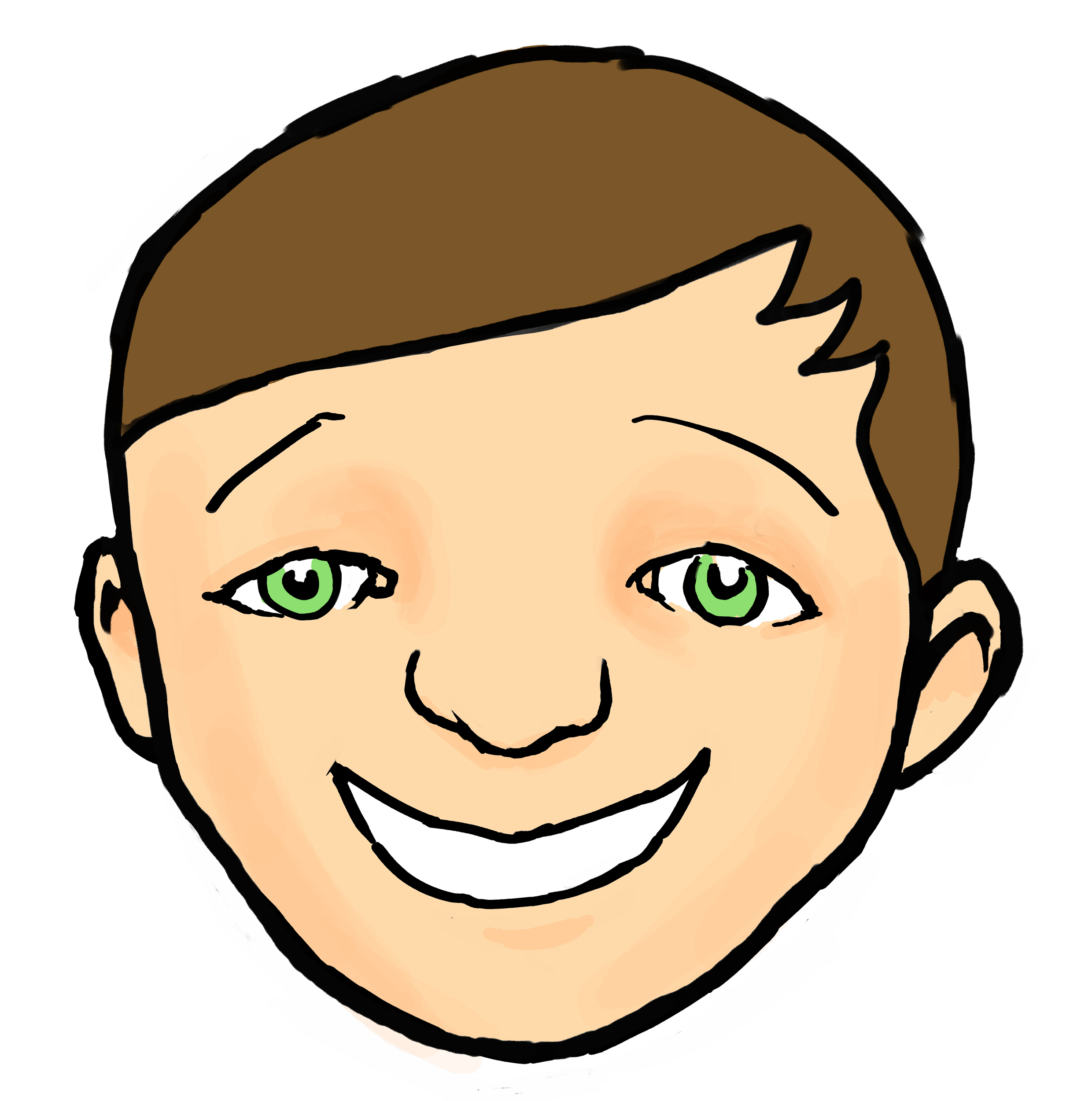 2480x2501 Happy Kid Face Clipart