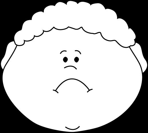 517x462 Black And White Little Boy Sad Face Clip Art