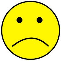 201x201 Yellow Sad Face Clipart