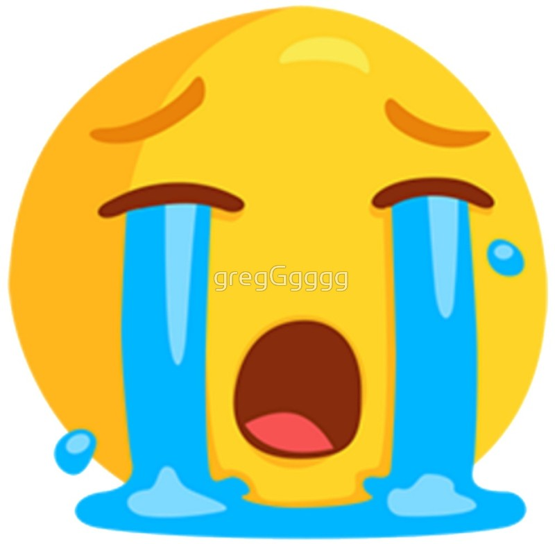 800x784 Loudly Crying With Tears Face Emoji Art Prints By Gregggggg