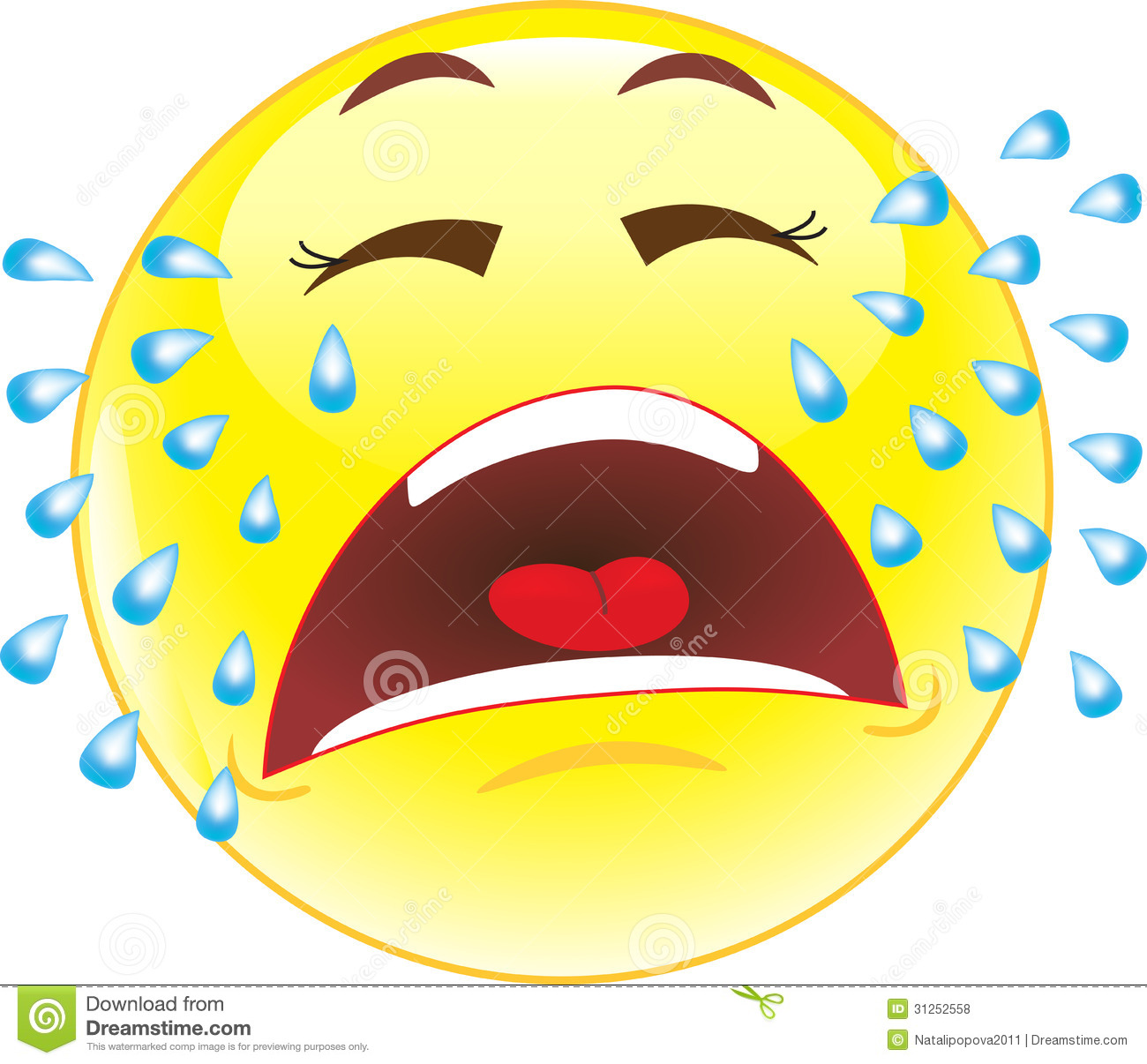 1300x1206 Smileys Clipart Cry
