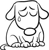 167x170 Clip Art Of Sad Dog In Kennel Cartoon Illustration K20086757