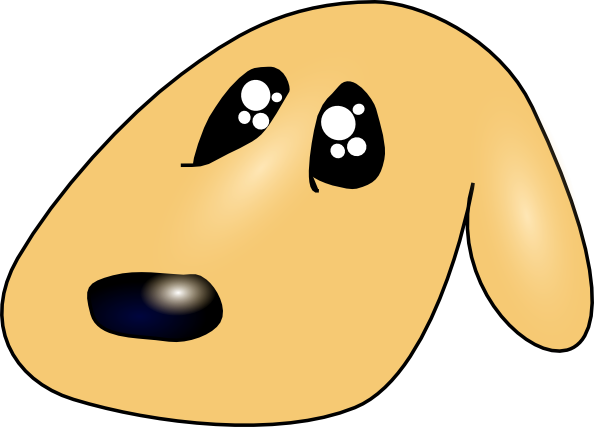 594x427 Ericlemerdy Cute Sad Dog Clip Art