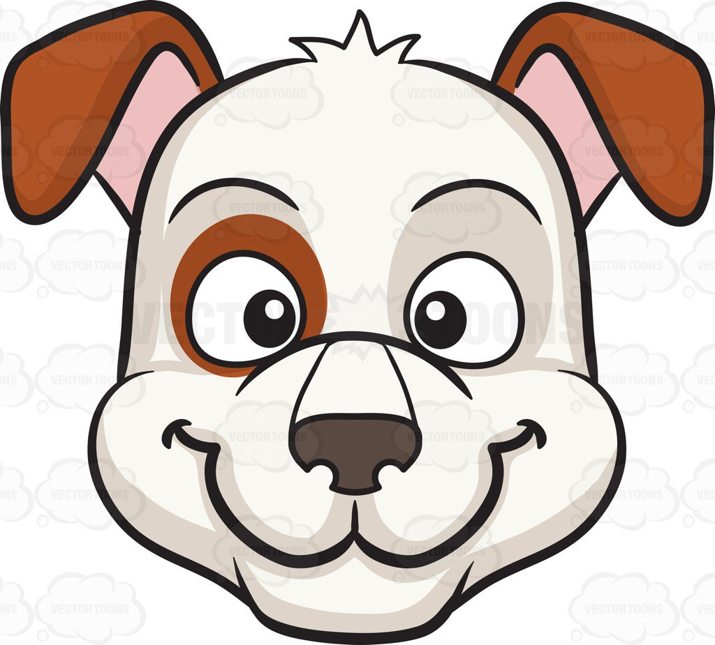 1024x925 A Smiling Dog Cartoon Clipart