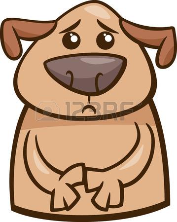 359x450 Cartoon Illustration Of Funny Dog Expressing Sick Mood Or Emotion