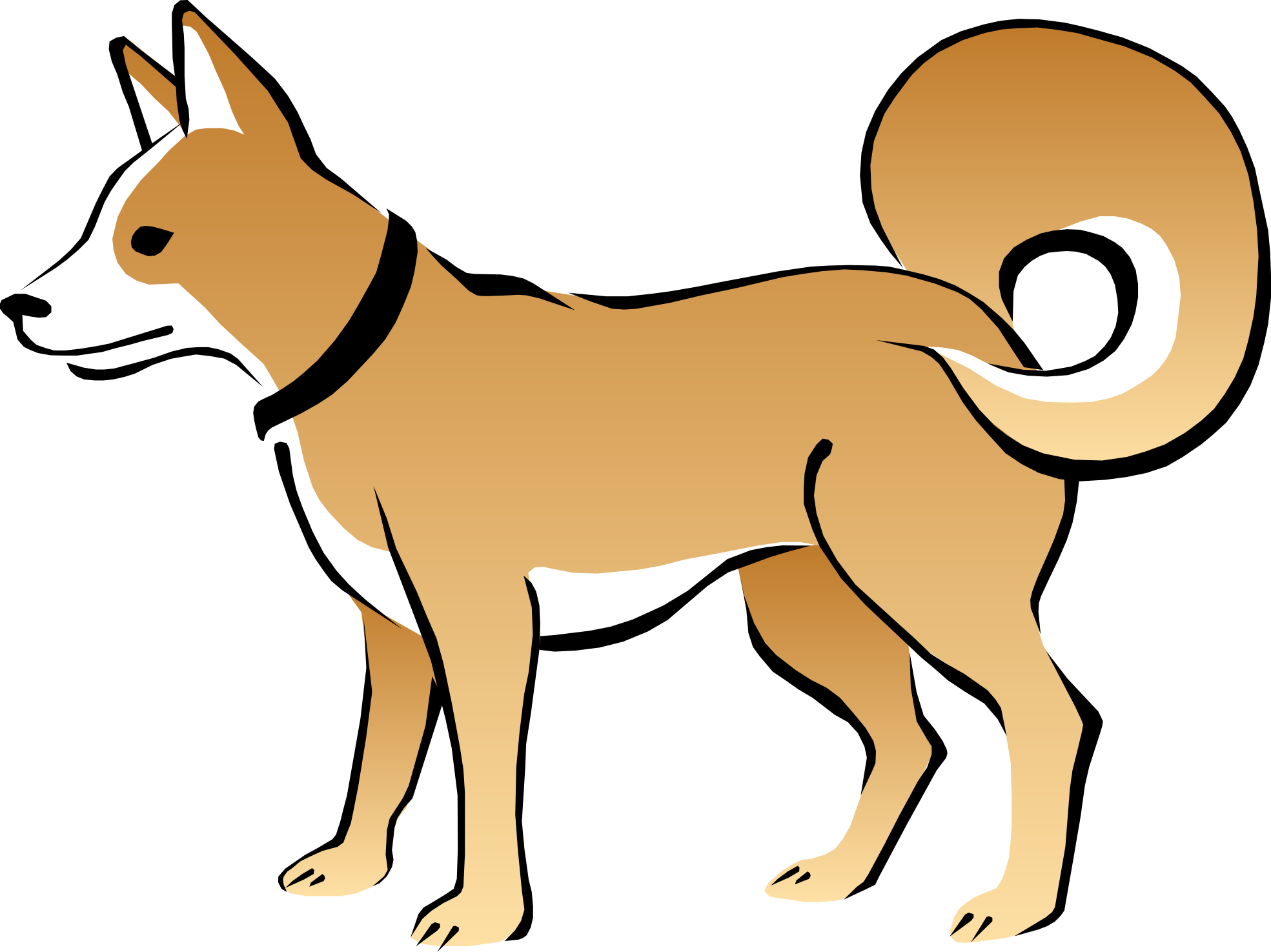 1969x1475 Free Cute Dog Clipart Image