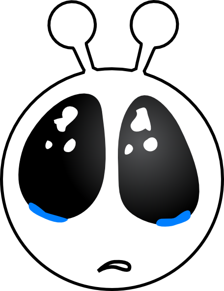456x593 Sad Alien Face Clip Art