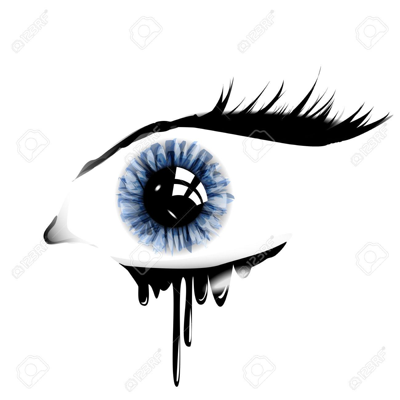1300x1300 Eye With Tears Clipart