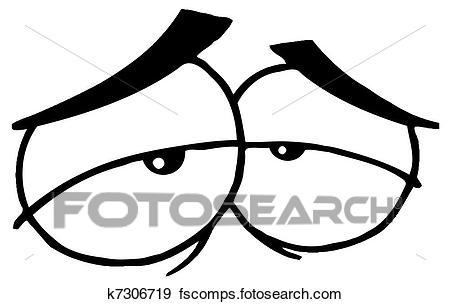 450x304 Clip Art Of Sad Cartoon Eyes K7306719