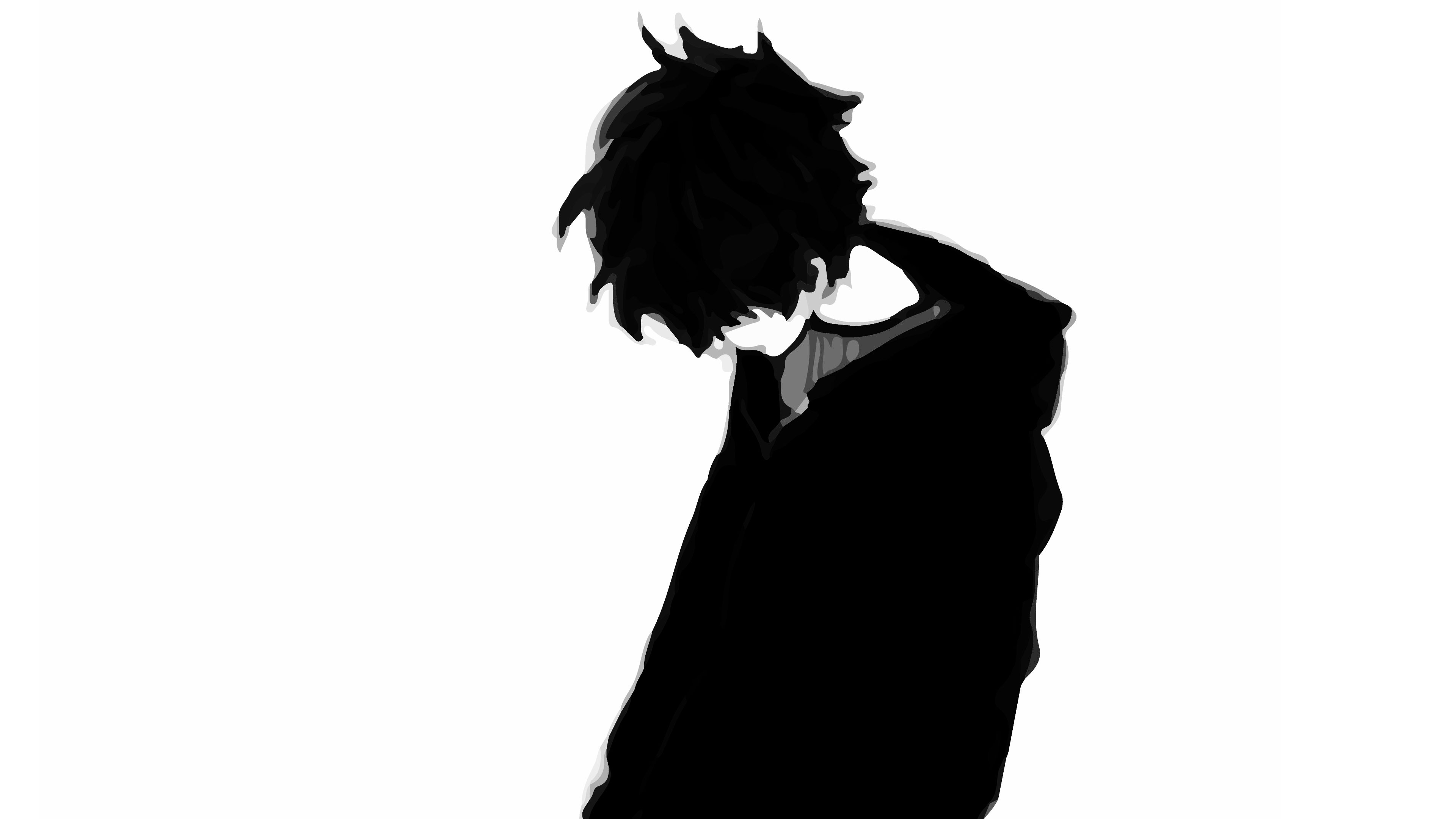 3840x2160 Sad Boys Anime Pics ,black And White Anime Boys Sad Face Anime
