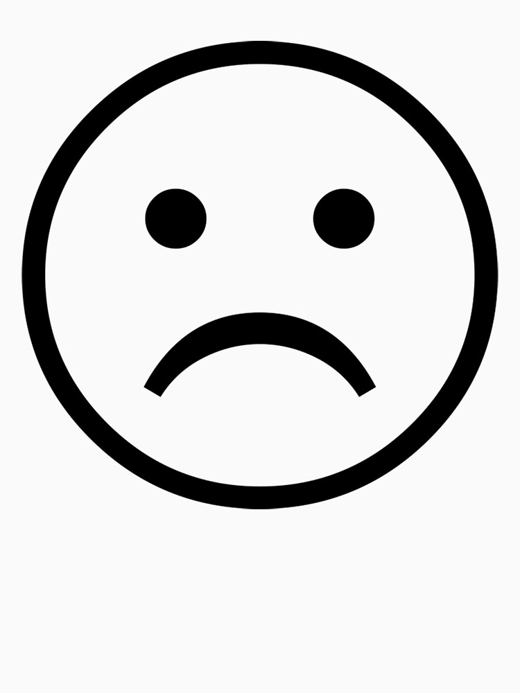 Sad Face Black And White   Free download on ClipArtMag