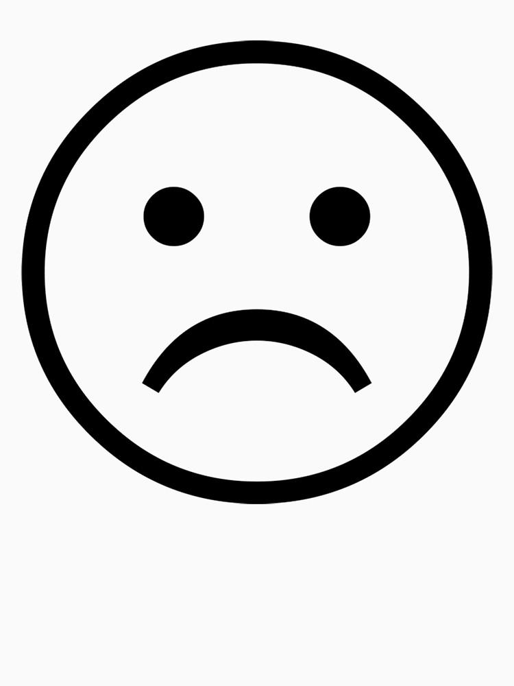 Sad Face Clip Art Black And White