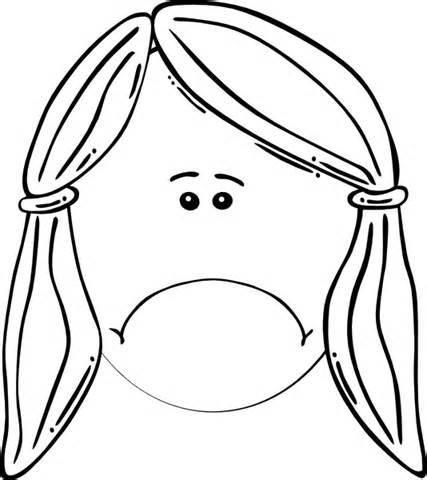 427x480 Sad Face Sad Woman Face Clipart Coloring