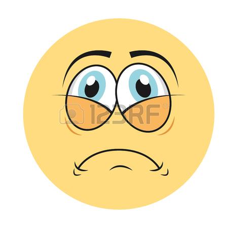 450x450 Face Cartoon Sad Character Emotion Expressive Emoticon Vector