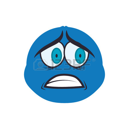 450x450 Face Sphere Sad Eyes Expression Cartoon Icon. Isolated And Flat