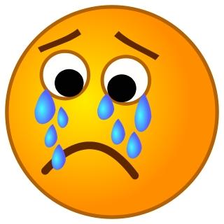 320x320 Sad Face With Tears Clipart