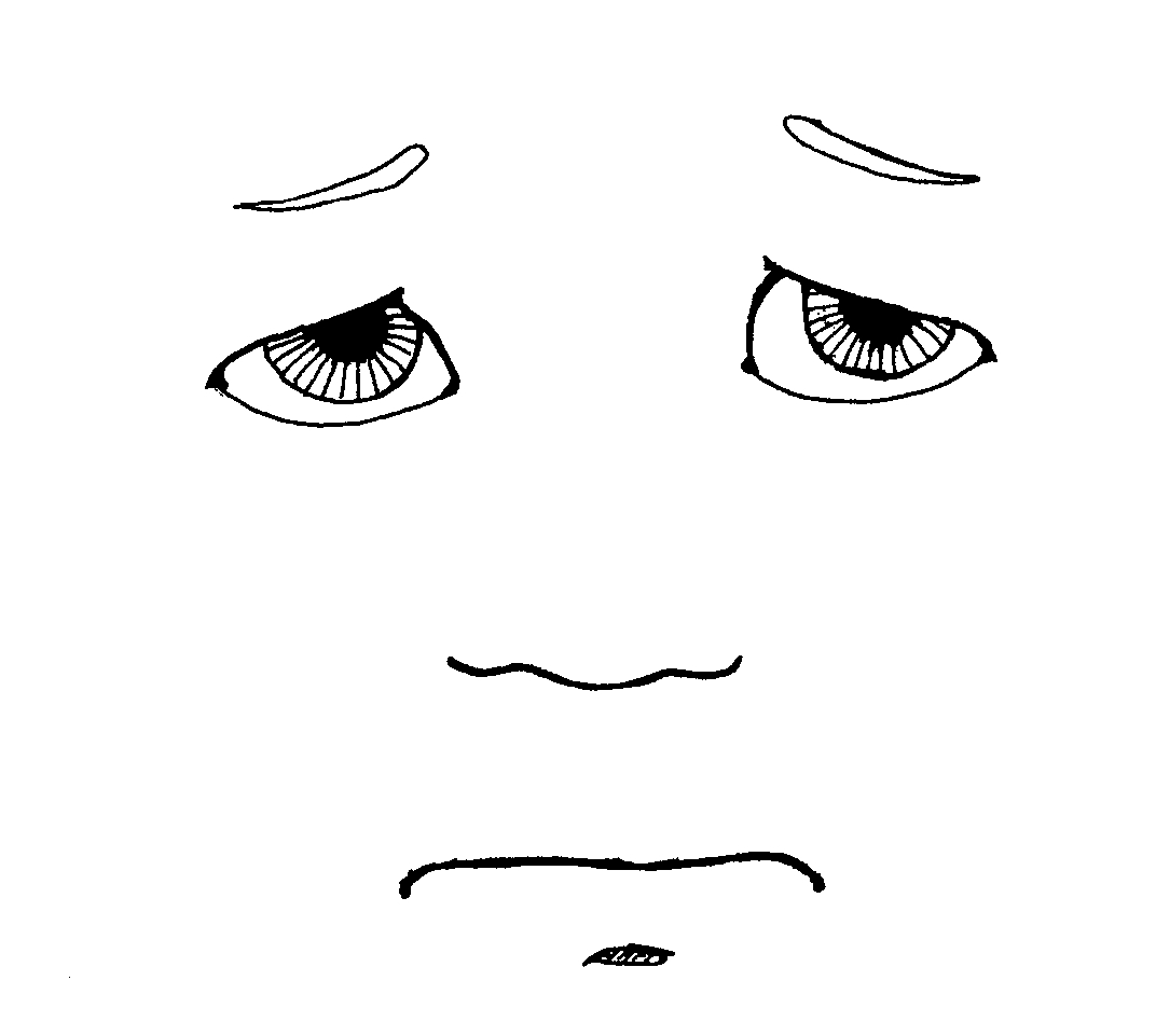 1072x961 Sad Face Black And White Free Clipart Images