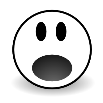333x333 Shocked Sad Face Clipart