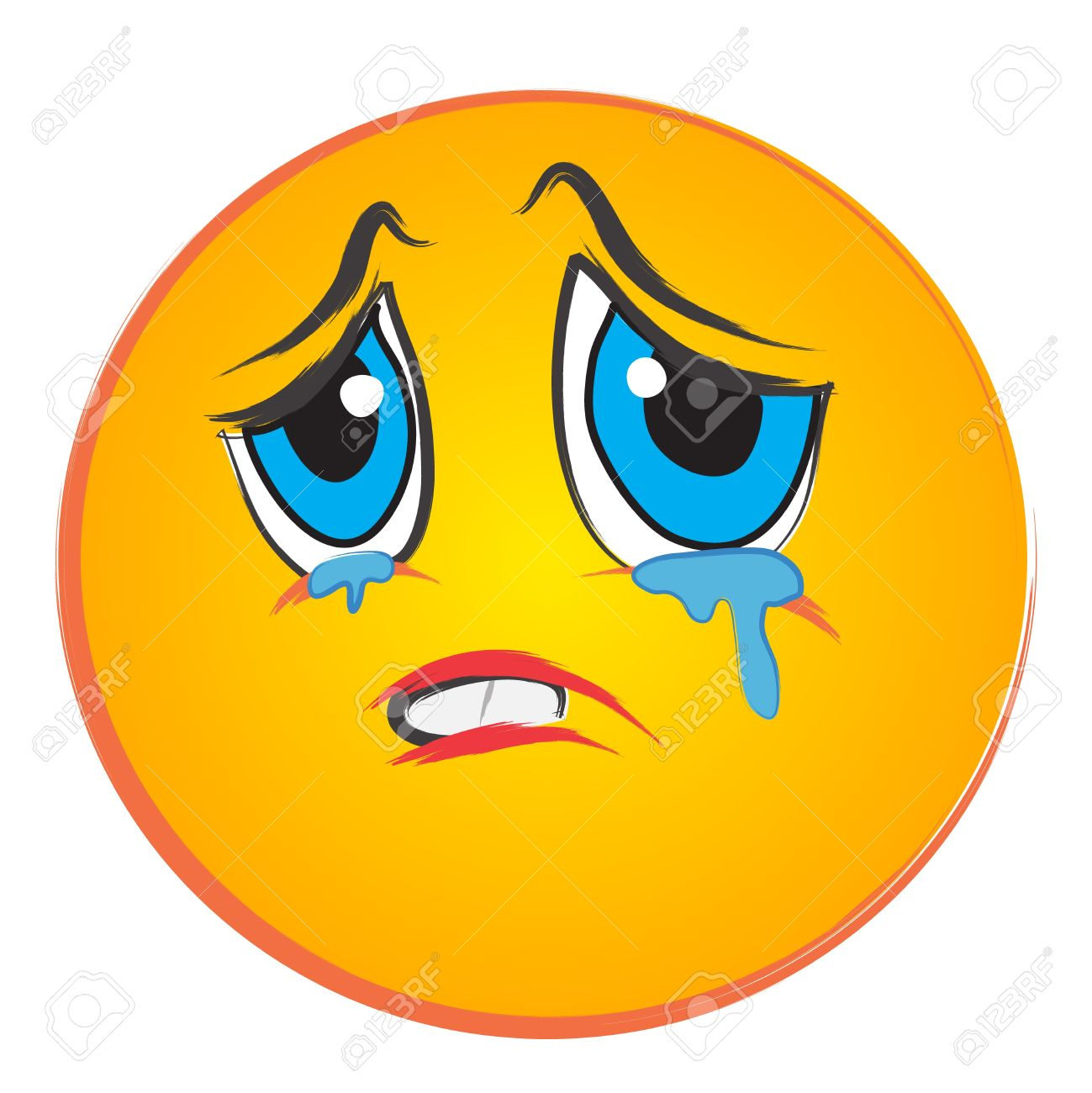 1299x1300 Crying Face Clip Art