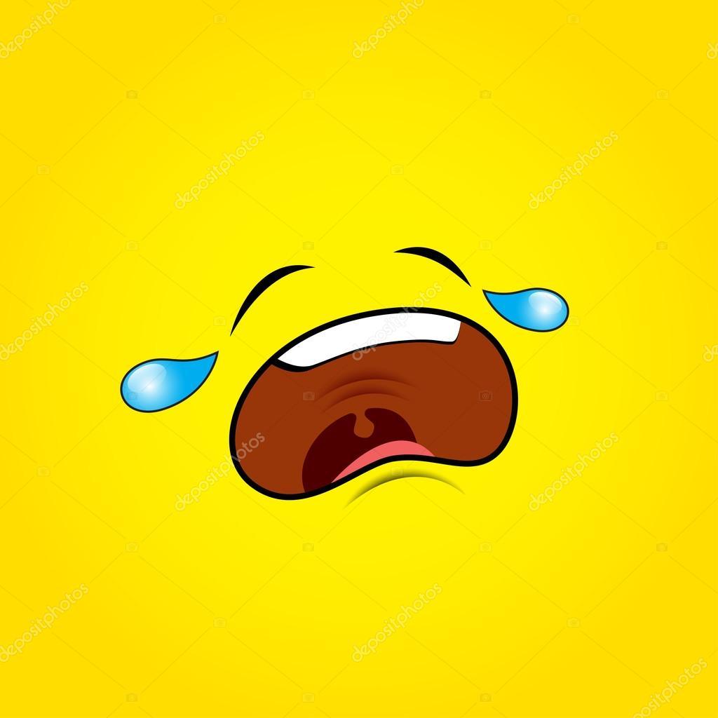 1024x1024 Crying Sad Emoticon Face Stock Vector I.petrovic