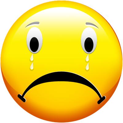 400x400 Sad Face With Tears Clipart