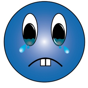 300x300 Sad Face Crying Clipart Clipartcow 4