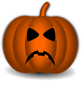 282x299 Sad Pumpkin Face Clipart