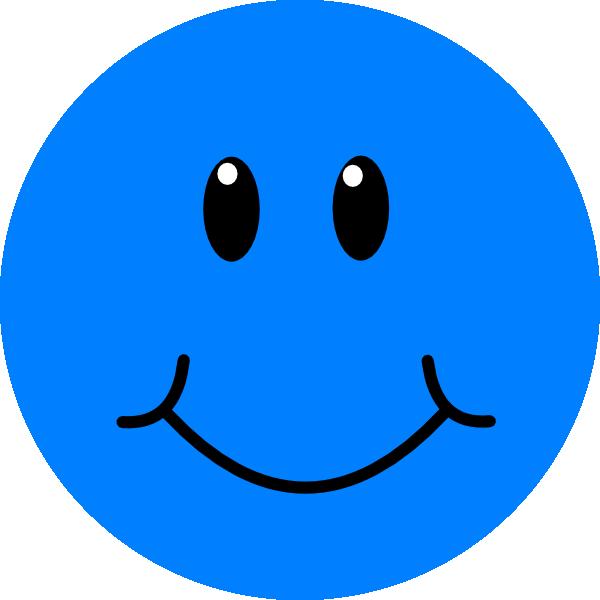600x600 Blue Smile Clip Art