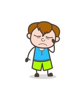 257x300 Boy With Sad Face Illustration Royalty Free Stock Image