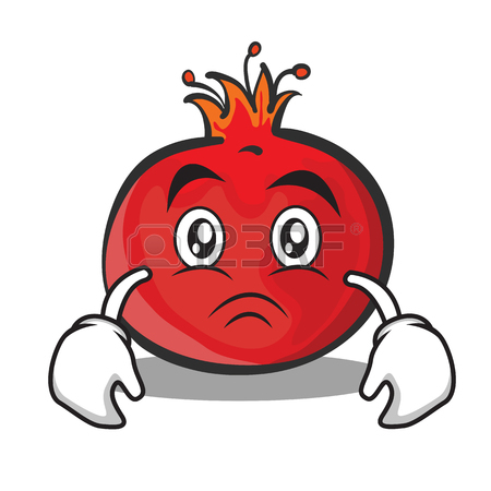 450x450 Smile Face Pomegranate Cartoon Character Style Royalty Free