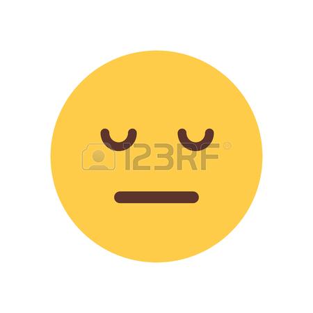 450x450 Yellow Cartoon Face Sad Upset Emoji People Emotion Icon Flat