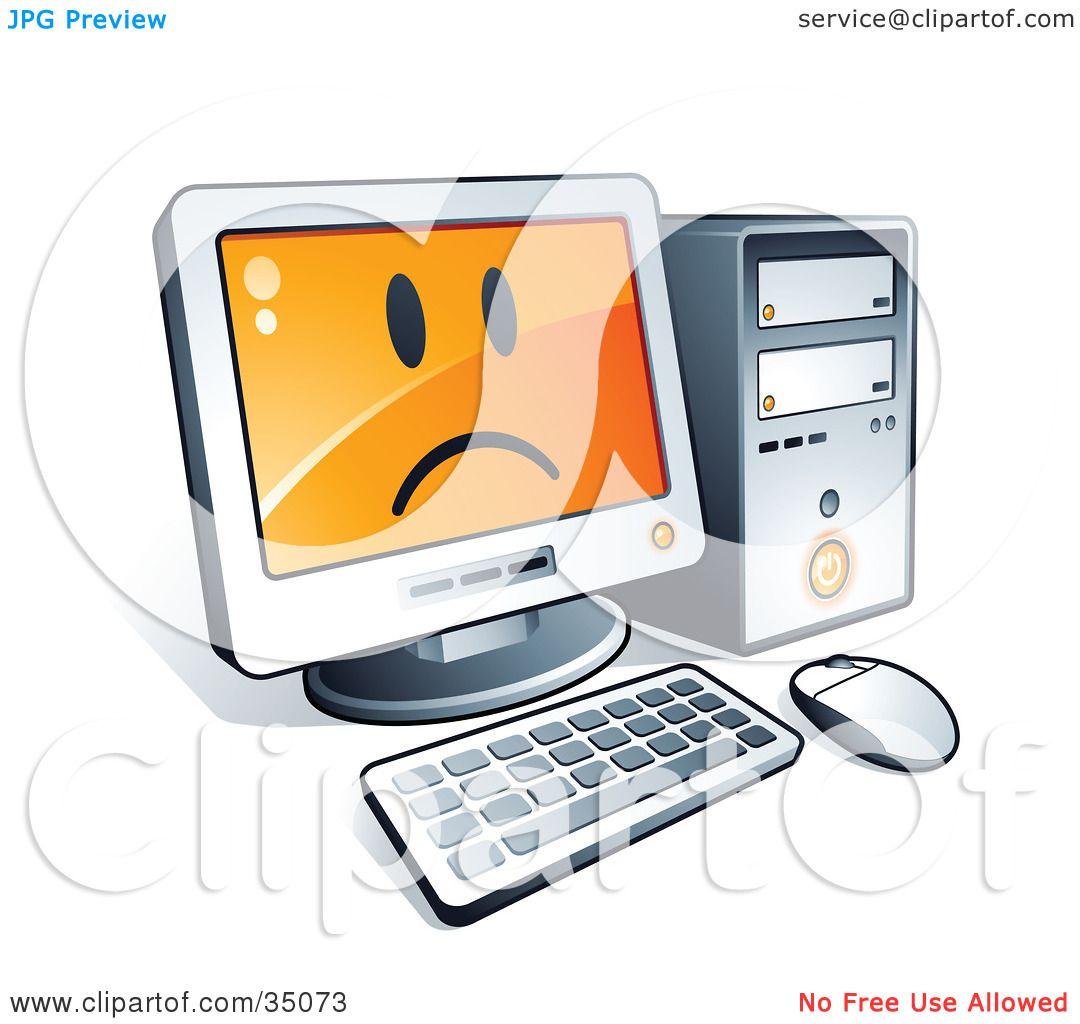 1080x1024 Sad Clipart Computer
