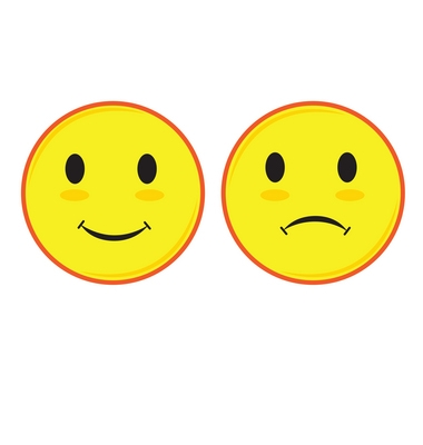 380x400 Happy Face And Sad Face Clipart