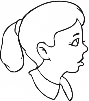 308x350 Sad Face Coloring Pages Printable Girl Face Coloring Page. Smiley