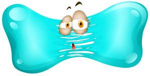 300x152 Sad Face On Jelly Bean Illustration Royalty Free Stock Image