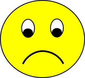 300x276 Sad Face Sad Smiley Face Clipart Free Clipart Images