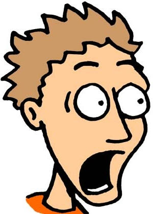 300x419 Scared Face Clipart