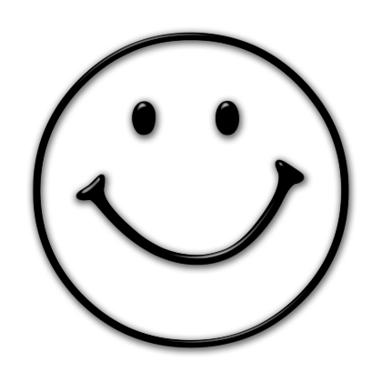 420x420 Smiley Face Black And White Clipart