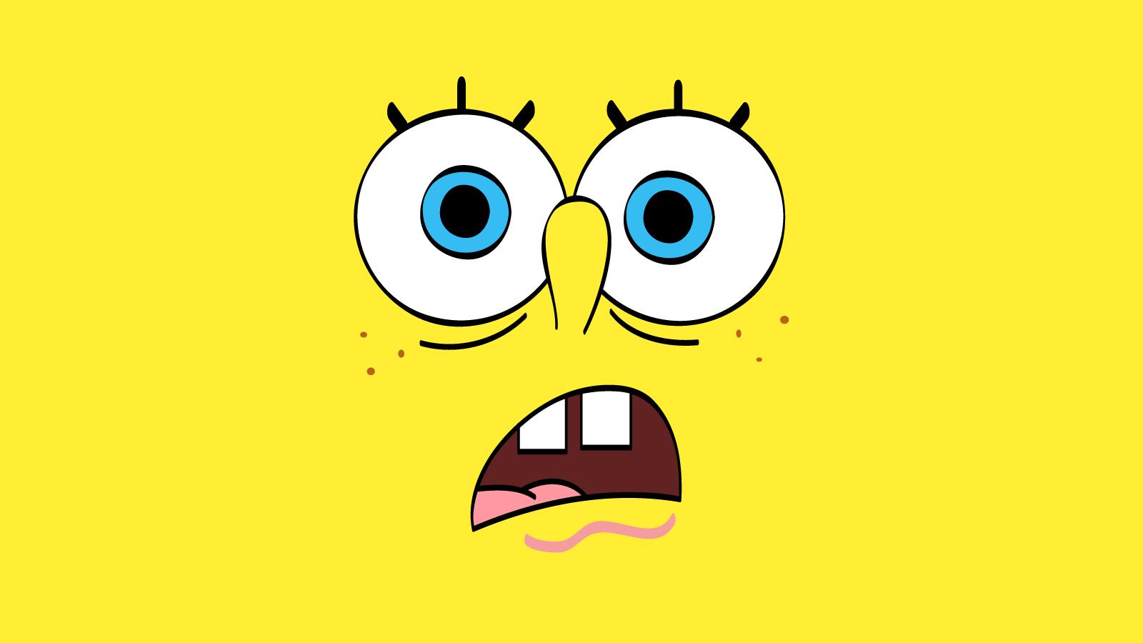 1600x900 Funny Cartoon Spongebob Sad Face Yellow Wallpa